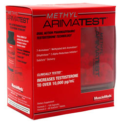 MuscleMeds, Methyl Arimatest, 120 Capsules + 60 SubZorb Tablets